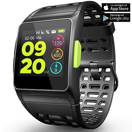 Fitness Tracker GPS con reloj para correr con monitor de ritmo cardíaco, análisis HRV,