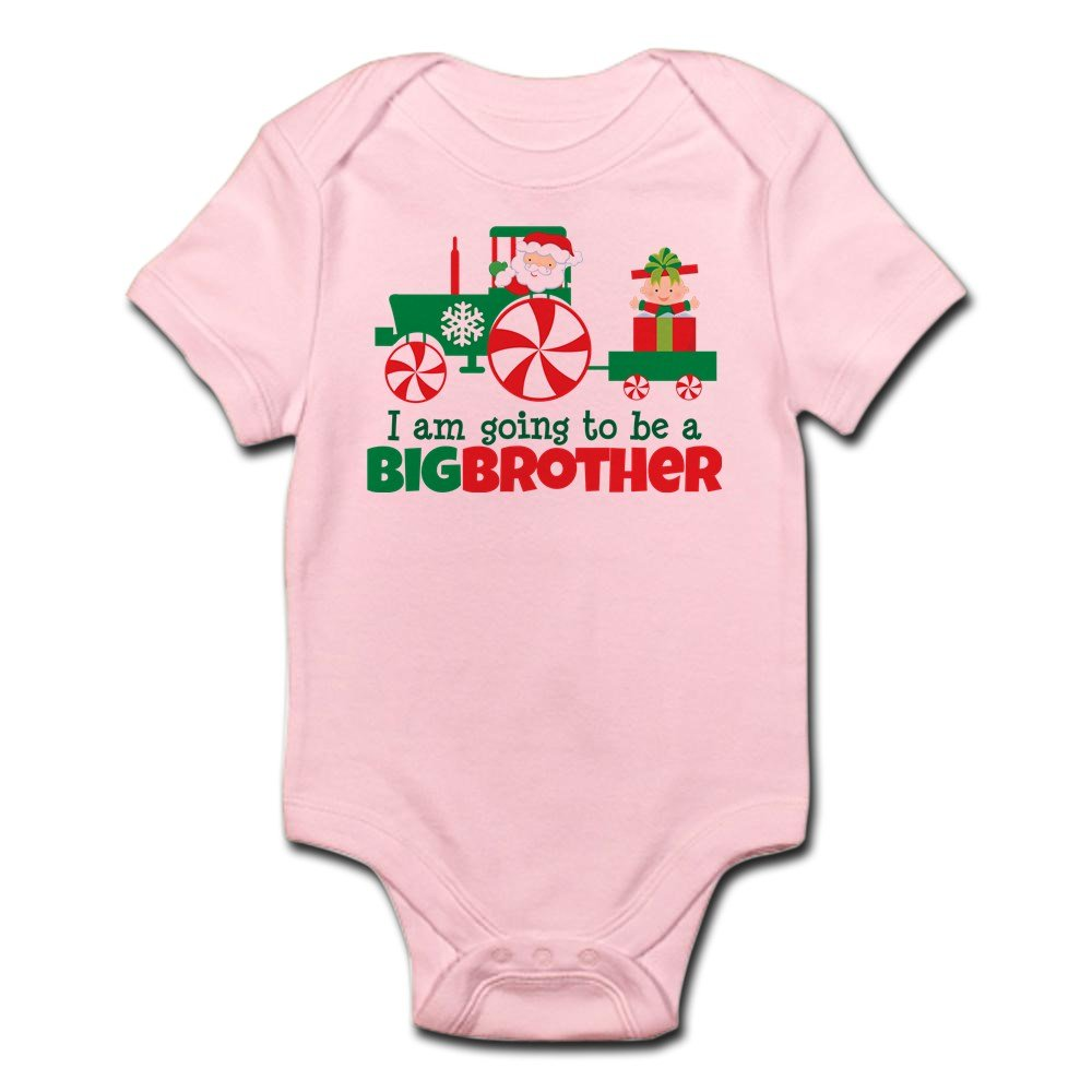 CafePress - Santa Tractor Big Brother To Be - Cute Infant Bodysuit Baby Romper