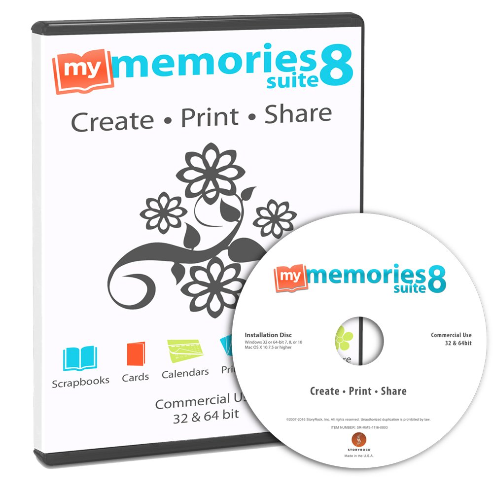 How to scrapbook on a mac - Amazon Com My Memories Suite 8 Digital Scrapbooking Software Mac And Pc