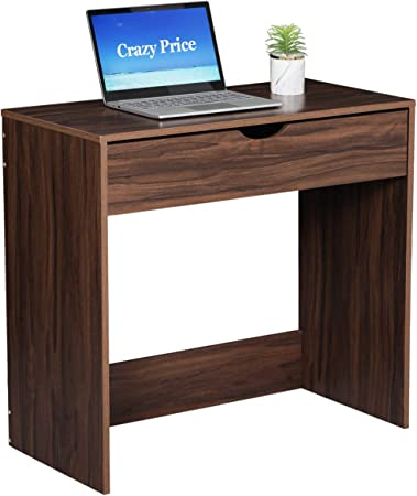 Amazon.com: Writing Computer Desk with Drawers Small Study ...