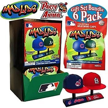 35928846ac82c Party Animal Mad Lids MLB Mini Baseball Caps Blind Bags Gift Set Party  Bundle - 6