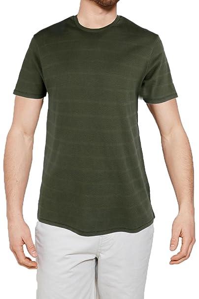 Threadbare - Camiseta - Ajustada - para hombre verde Stockton - Khaki Green Small