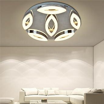 Entzuckend LED Deckenleuchte Runden Metall Base Entwurf Modern 6 Acryl Beleuchtung 32W  Augenform Deckenbeleuchtung Deckenlampe Zum Wohnzimmer Schlafzimmer,  2370LM, ...