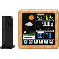 SONADY Reloj Digital de estación meteorológica, Pantalla táctil LCD Inalámbrico Pronóstico del Tiempo Inalámbrico Barómetro Recargable Termómetro Higrómetro para el hogar
