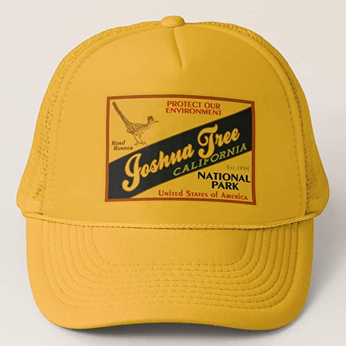 51a577a1e70 Zazzle Joshua Tree National Park (Road Runner) Yellow and Yellow Adjustable Trucker  Hat