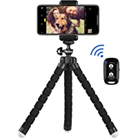 UBeesize スマホ用自撮りミニ三脚 Bluetoothリモコンとスマホホルダー付き デジカメ/スポーツカメラGoProカメラと交換性がある iPhone/Android携帯に適用