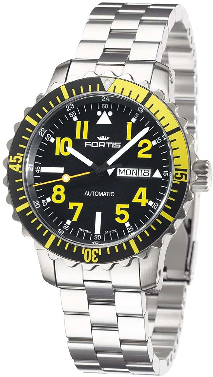 Fortis Herrenuhr Maritime B-42 Marinemaster Day-Date Yellow Automatik 670.24.14 M