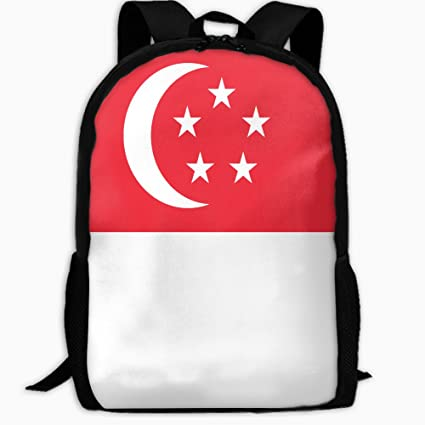 f3f5bd9288cc Amazon.com  ChunLei Child School Bag Singapore Flag Outdoor Travel Backpack  Students Backpacks Girls Book Bags Unisex Shoulder Daypack  Home   Kitchen