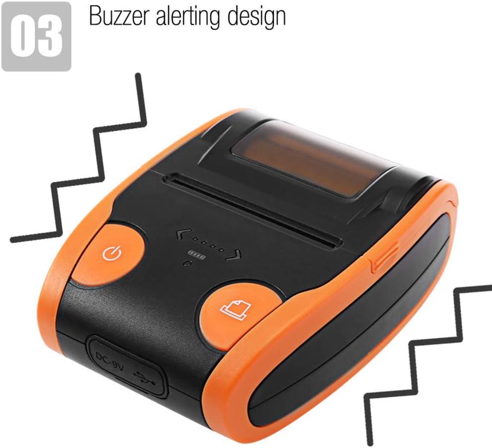 DZSF Impresora portátil Mini Bluetooth 4.0 58Mm Impresora térmica ...
