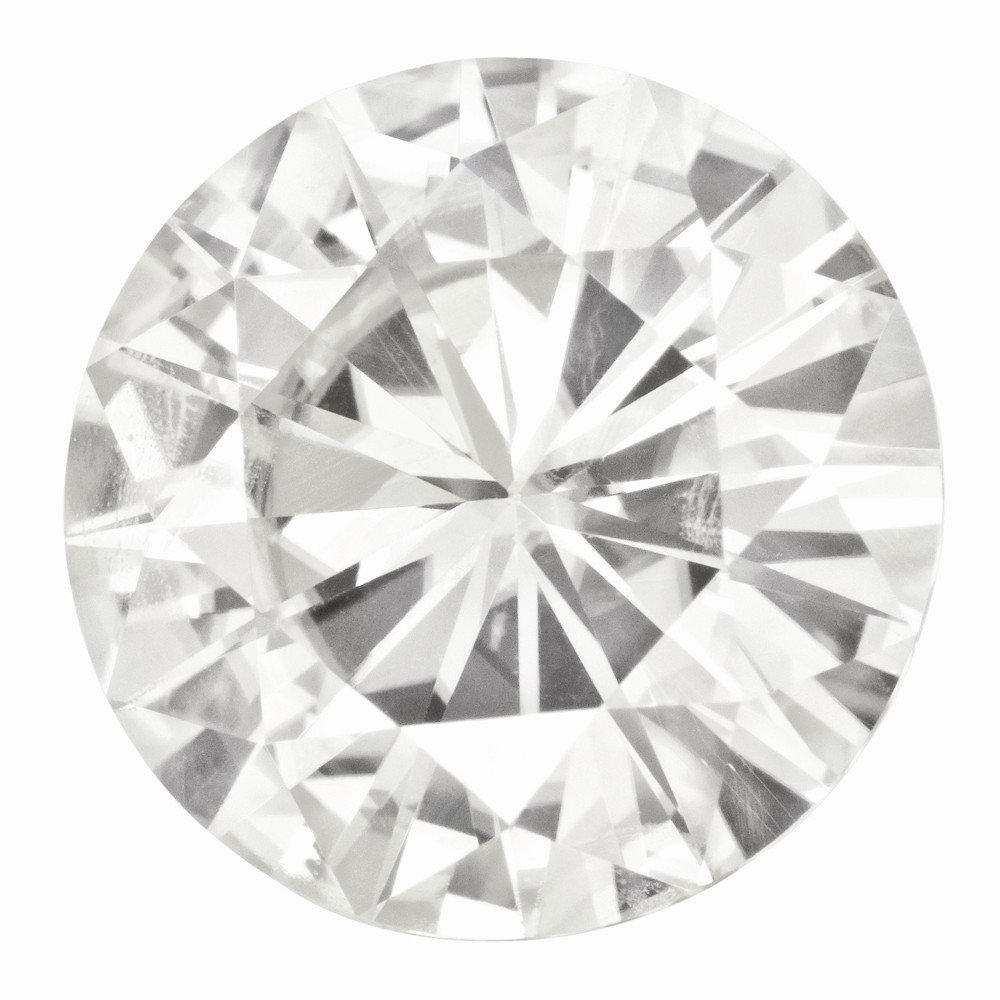 Moissanite, Forever , 15mm Round by Brilliant Embers, Best Quality Free Gift Box