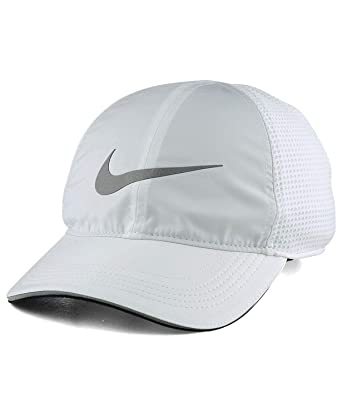sports shoes ab926 b68a3 NIKE Mens Aerobill Elite Running Adjustable Hat White 848375-100