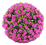 artificial flowers for outdoors - Porpora Decorative Artificial Flower Ball for Home Decor, Weddings and other Special Events, 11
