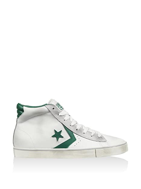 ebad84827c50 Converse - Pro Leather Vulc Mid - 155097CS - Color: Green-White - Size