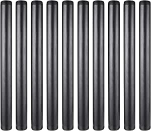 GOOVI 1 Inches x 12 Inches Black Malleable Steel Pipe Fitting, Black Pipe Threaded Pipe Nipples, Build Vintage DIY Shelving Steampunk Furnitur, 10 Pack.