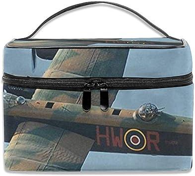 Bolsa de cosméticos portátil para viaje, multifuncional, bolsa de acabado, Avro Lancaster Bomber: Amazon.es: Belleza
