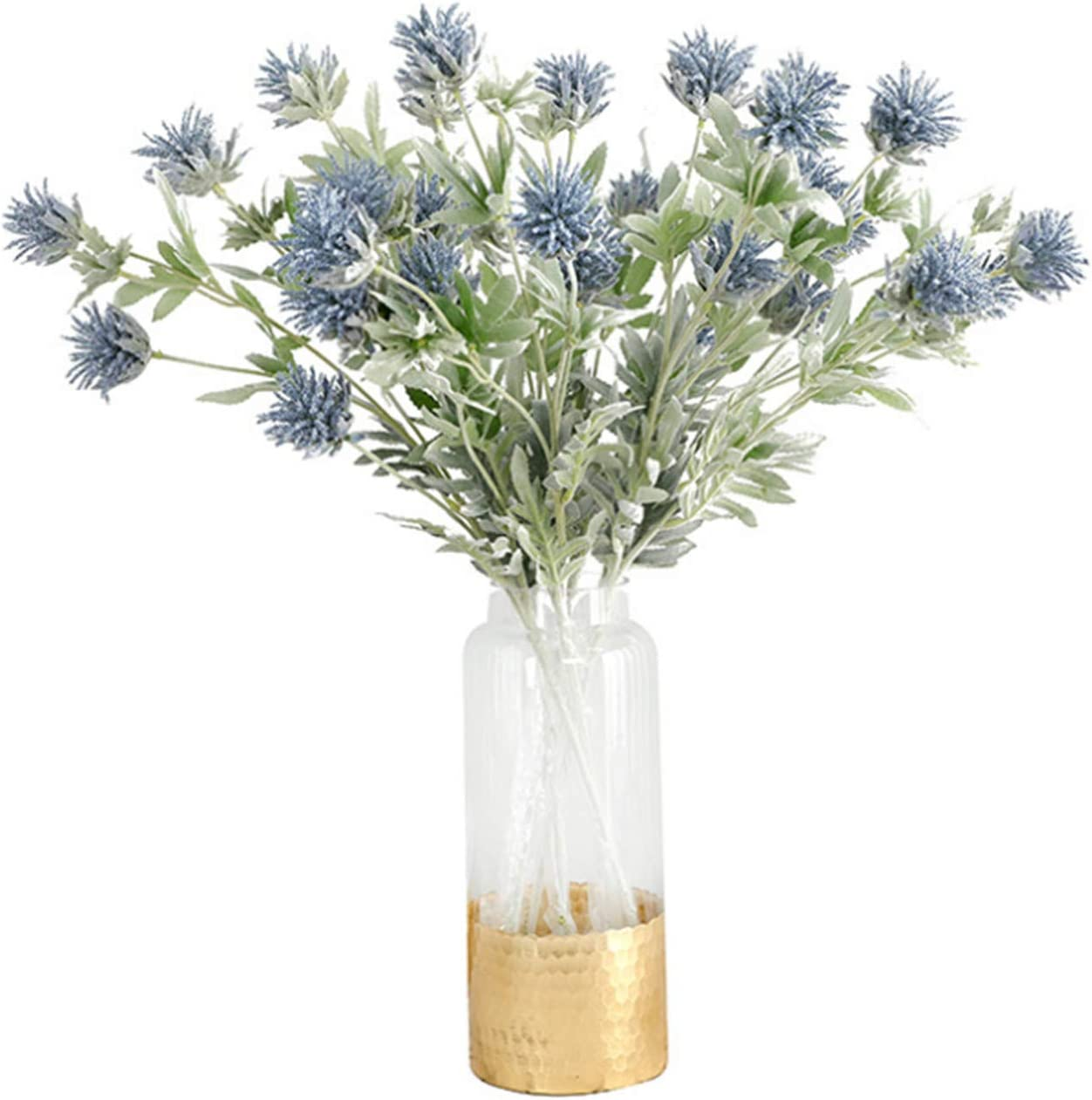 Skyseen 3PCS Artificial Flowers Thistle Spray Eryngo Single Spray