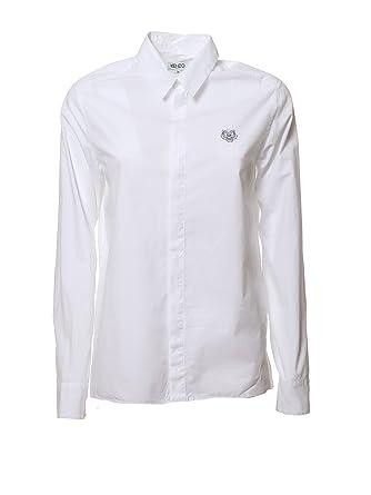 132d44ac9 Kenzo Women's F752CH0805AW01 White Cotton Shirt: Amazon.co.uk: Clothing