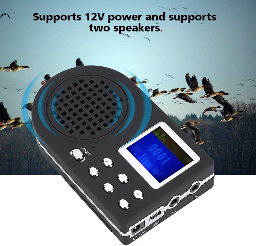 Portable Electronic Speaker Bird Caller Lure MP3 Player For Outdoor Hunting Tool