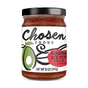 Chosen Foods Simmer Sauces 12 oz (Muhammara Red Pepper)