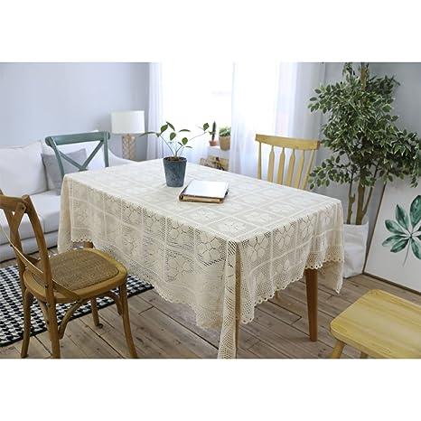Amazoncom Cotton Weave Openwork Table Cloth Retro Handmade