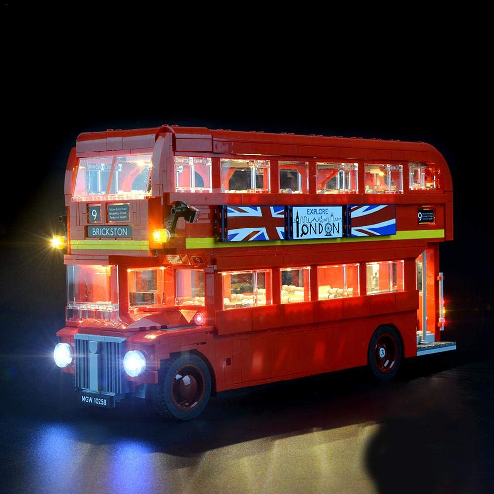 starter Conjunto de luces LED - Para Lego Reino Unido Londres Bus doble piso 10258 bloques de construcción ensamblados Juguete Iluminación LED DIY Bloques ...