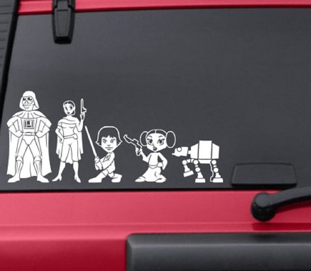 Amazon com hvd star wars stick figure family car window vinyl decals computers accessories