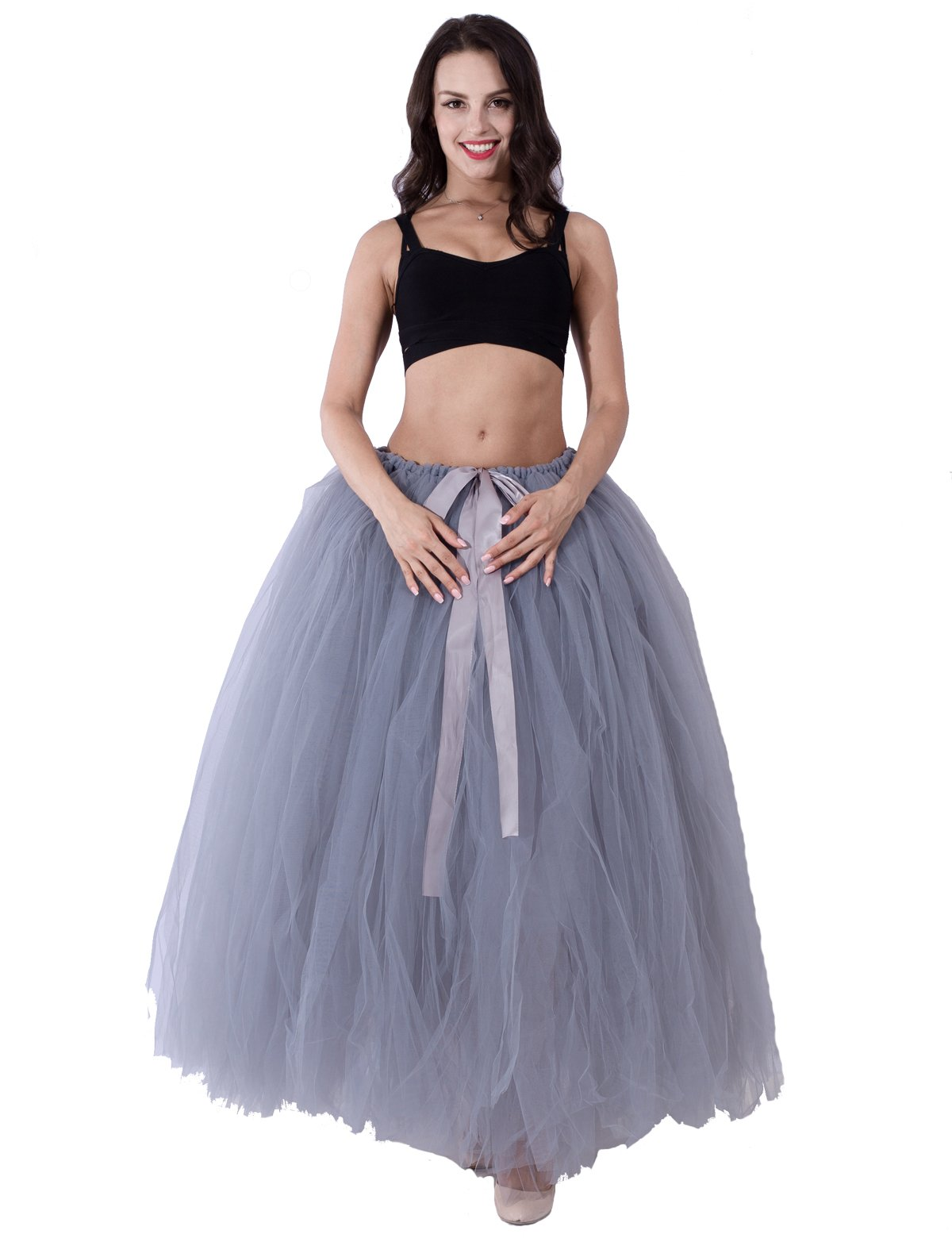 Party Train Adult Puffy Long Tutu Tulle Skirt 100cm Floor Length Women Wedding Skirts by Party Train (Image #4)
