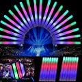 LYNICESHOP 30pcs Multicolor LED Flashing Light Effect Color Changing Foam Sticks Toys for Concerts, Partys, Birthdays
