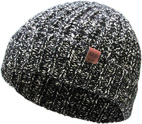 KBW-268 BLK Premium Cuffed Sparkle Beanie Winter Ski Hat (Hat Ski Cuffed Beanie)