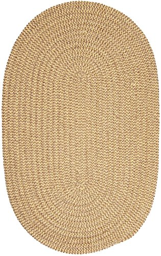 Colonial Mills Contemporary Round Area Rug 12' Pale Banana Check Softex Check Collection (Softex Pale Banana)