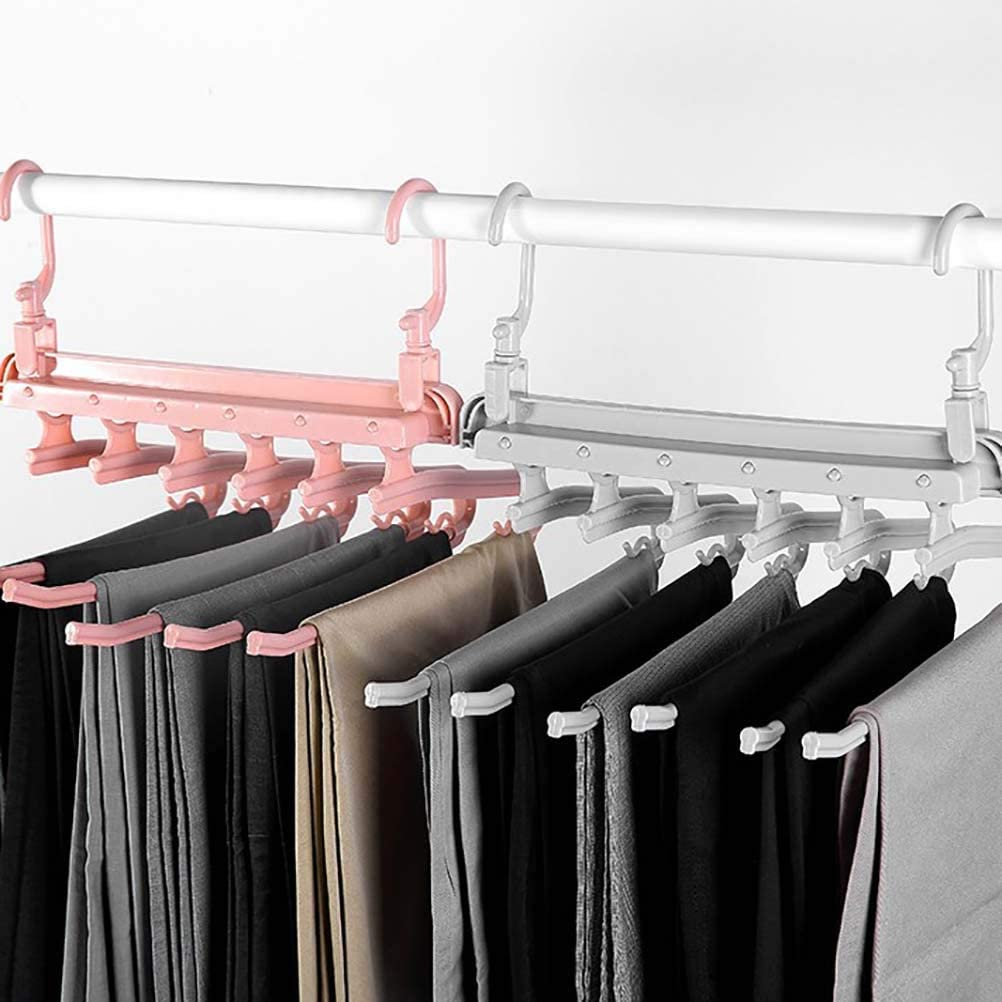 antideslizante Delaspe Colgador de pantalones plegable para ahorrar espacio organizador para el hogar