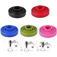 Diffusor av silikon – bärbar universell hopfällbar hårtork accessoar tork rosa 5 färger (färg: Nej)