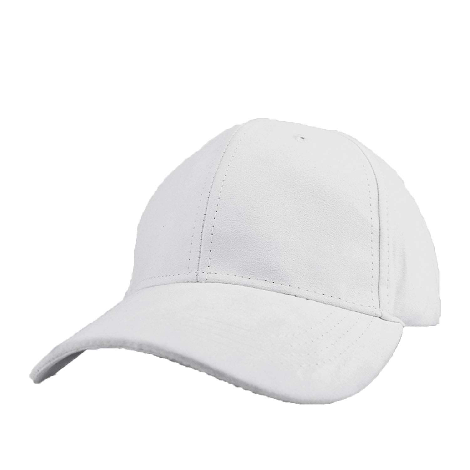 CHENTAI Unisex Soft Suede Baseball Cap Casual Solid Color Sports Hat Bone Snapback Adjustable Breathable Dad Hat