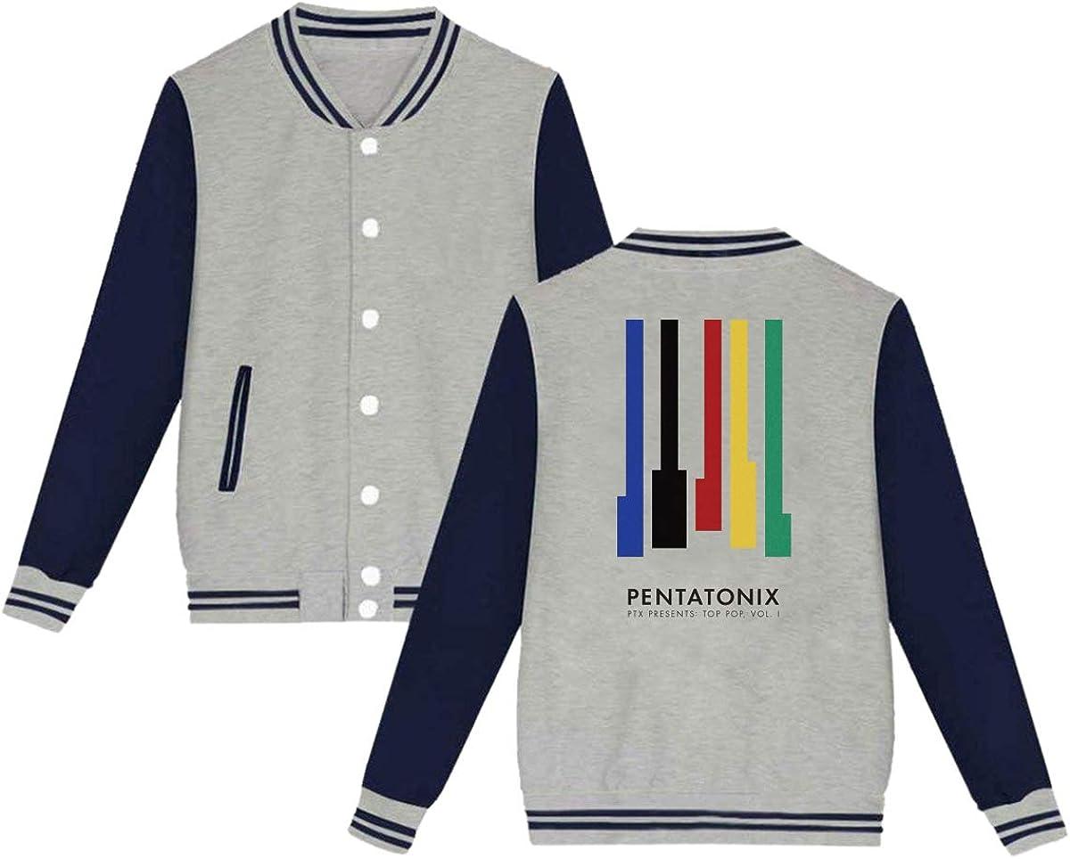 LEILEer Pentatonix Adults Baseball Uniform Jacket Sport Coat Print On The Back