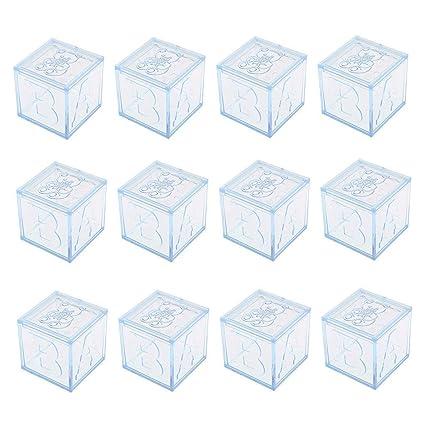 Amazon.com: 12 cajas de regalo cuadradas transparentes para ...