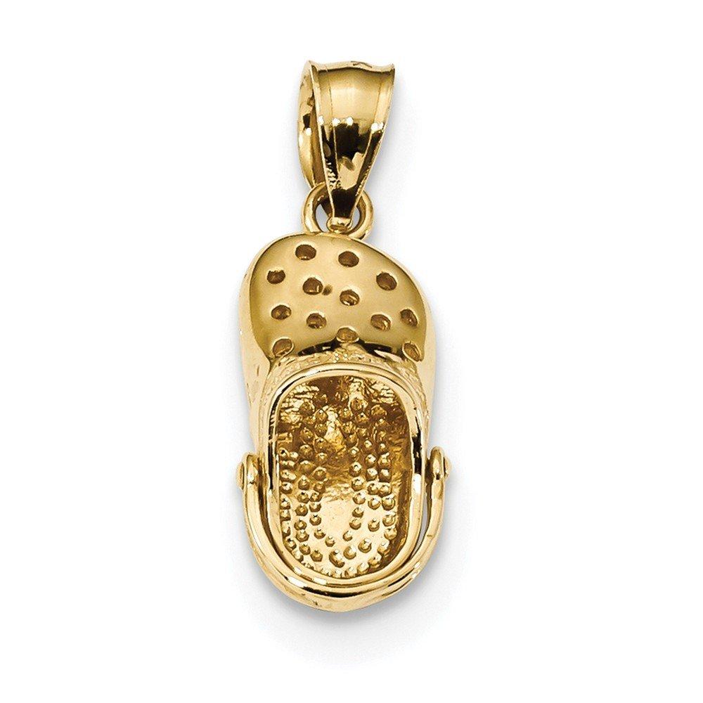 Crocs Shoe Pendant Moveable Sandal Charm Fashion 14K Yellow Gold