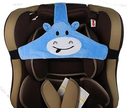 MINGZE Soporte de cabeza de asiento de coche de bebé niño, posicionador de sueño seguro