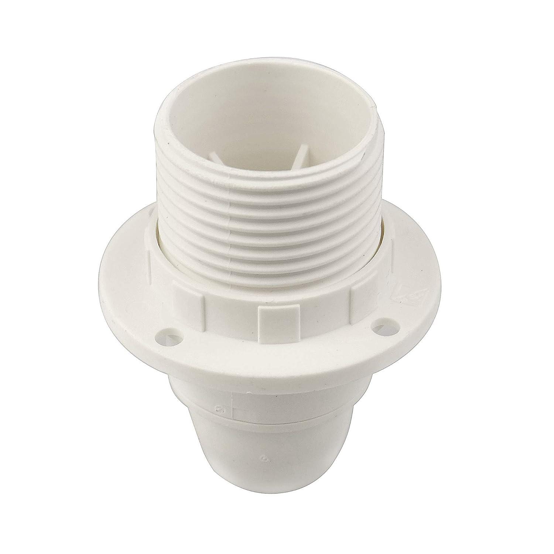 Arditi Thermoplastische Lampenfassung Parzial Gewinde mit Sockel E14 und Gusseisen Wei/ß