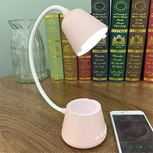 Lámpara De Mesa Altavoz Bluetooth Inalámbrico Portátil ...