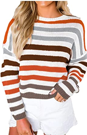 Romanstii Women Turtleneck Sweaters Oversized Chunky Pullover Loose Knitted Jumper Tops
