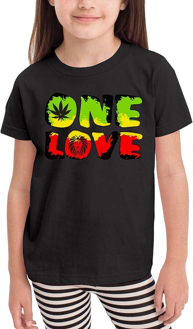 Rastafari de Manga Corta – Grunge One Love Lion Playeras para niños, Fashion Túnica Vestido de Camisa, 2 – 6T - Negro - 24 Meses: Amazon.es: Ropa y accesorios