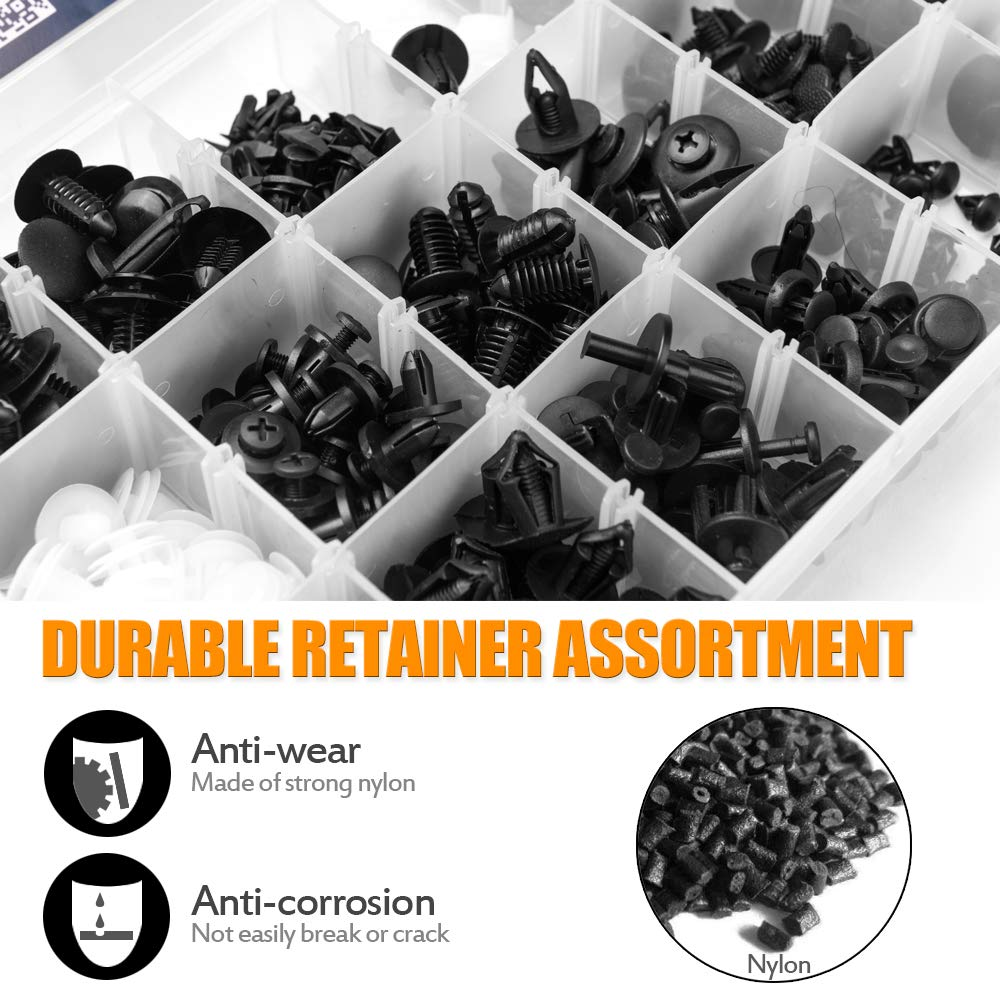 Door Trim Panel Clips MICTUNING 456 Pcs Car Retainer Clips /& Plastic Fasteners Kit 18 Most Popular Sizes Auto Push Pin Rivets Set with Fastener Remover