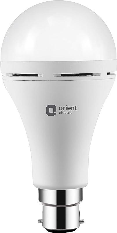 Orient Electric 9W Inverter Emergency LED Light Bulb - 6500K, Base B22 (Cool Day White)
