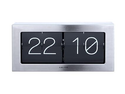 Amazon com: Karlsson Boxed Flip Clock (Steel): Home & Kitchen