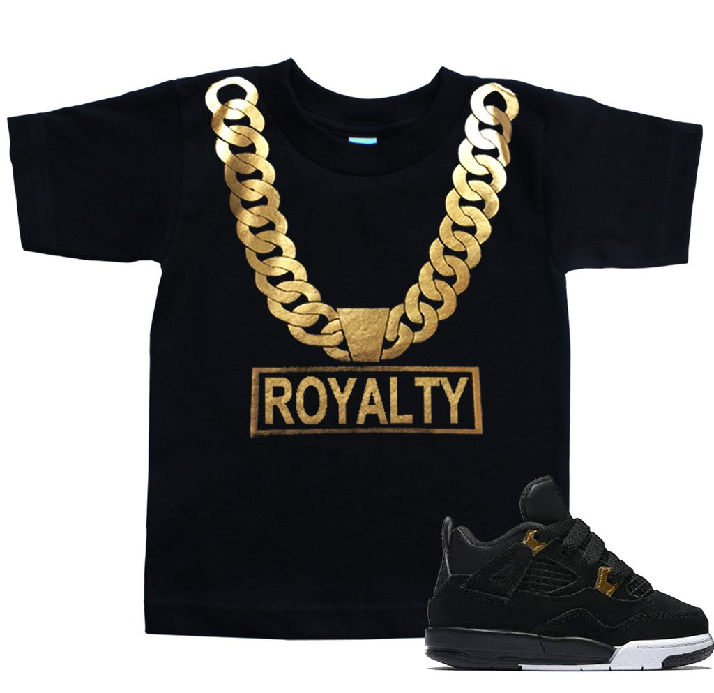 FTD Apparel Toddler's Gold Chain Royalty T Shirt - 3T Black