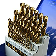 "CanTop Tool 29pcs M42 8% Cobalt High Speed Steel HSS Jobber Twist Drill Sets; Fully Ground; Golden Surface; 135 DEG Chisel Angle; Split Point; Metal Cases; Inch / Imperial 1/16"" to 1/2"" by 1/64"""