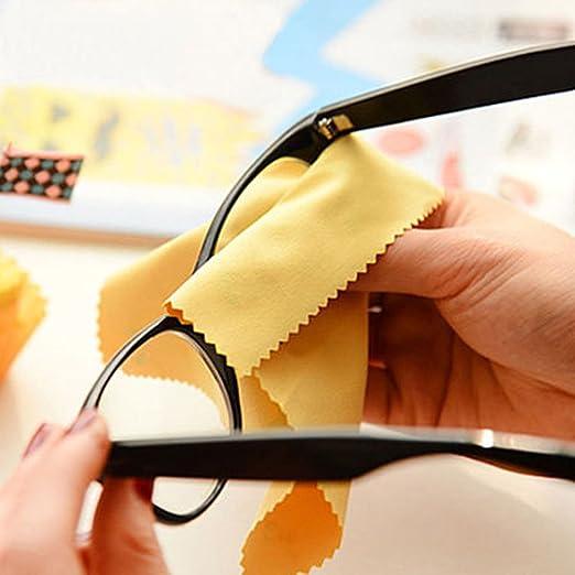 rosenice gamuza de limpieza para gafas de vista objetivo la cámara joyas cleaing 100pcs: Amazon.es: Hogar