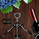 Wine Ziz Large Black Wing Corkscrew Bottle Opener