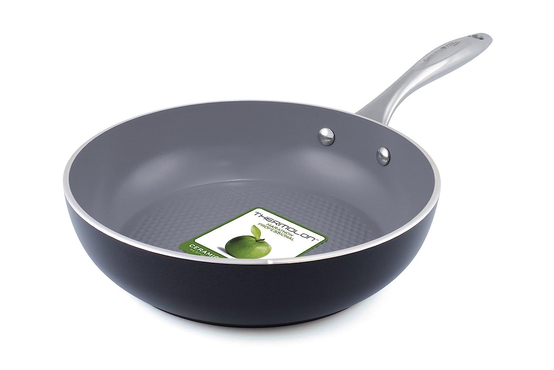 GreenPan CW000193-003 Milan 3D - Sartén (aluminio, para inducción, 24 cm, con patrón de puntos), color negro: Amazon.es: Hogar