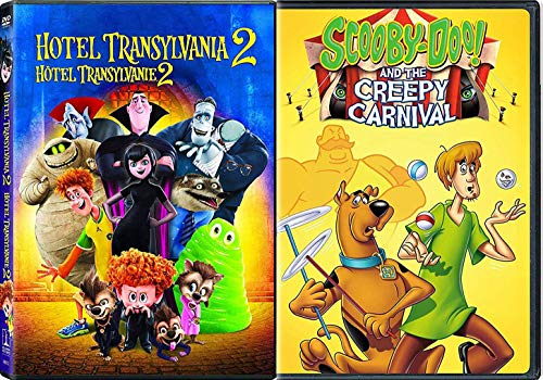 Creepy Carnival & Vacation for Monsters Hotel Transylvania 2 + Scooby Doo Double Feature Animated Cartoon Fun DVD -